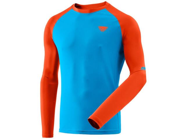 Dynafit Alpine Pro Longsleeve Heren, turquoise/oranje